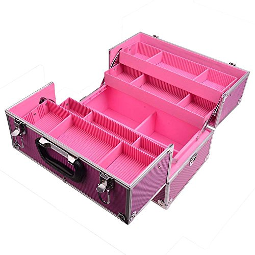 SHANY Essential Pro Makeup Train Case with Shoulder Strap and Locks - Pink