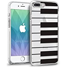 iPhone 8 Plus Case, Orzly Art Case for iPhone 7 Plus / iPhone 8 Plus - Clear Case Cover Shell for iPhone 8 Plus - Piano Keys