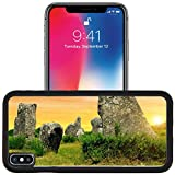 Luxlady Apple iPhone x iPhone 10 Aluminum Backplate Bumper Snap Case IMAGE ID: 34536346 Megalithic monuments menhirs in Carnac Brittany France