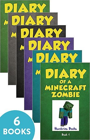Diary of a Minecraft Zombie Book Vol 1-6 Herobrine Books 6 Books Bundle Collection (A Scare of A Dare; Bullies and Buddies; When Nature Calls; Zombie Swap; School Daze; Zombie Goes to Camp)