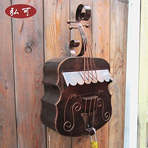 Austrian Style Guitar Creative Home Decor Postcard Pastoral Letter Box Storage Box European-style Villas Outdoor Wall Mount Mailbox by amoylimai