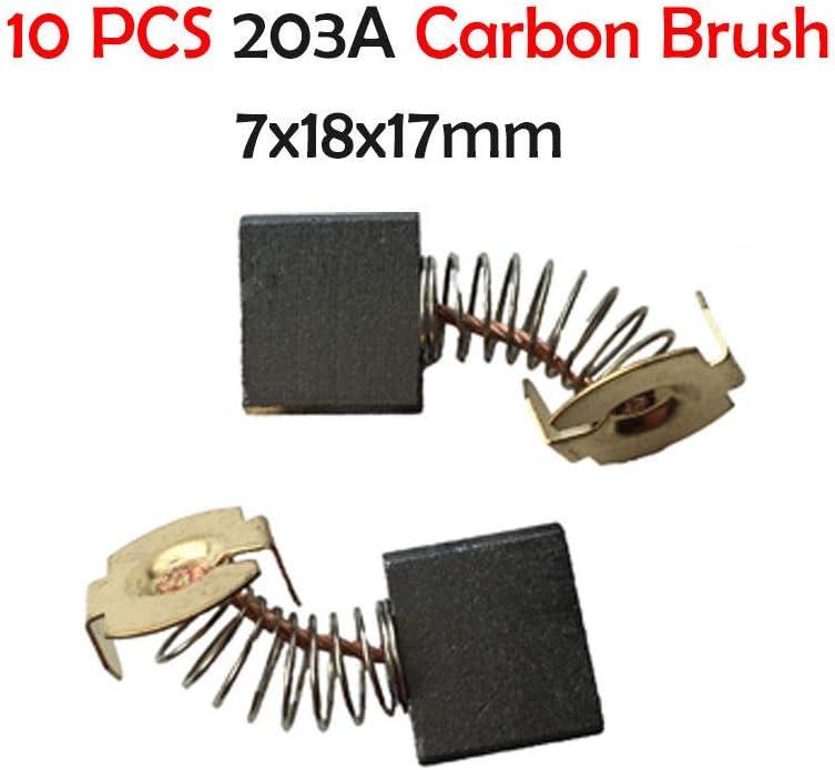 Powertool Lot de 10 brosses de charbon de rechange pour moteur /électrique