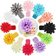Baby Girl's Headbands Chiffon Flower QandSweet Hair Accessories for Newborn Toddler and Kids