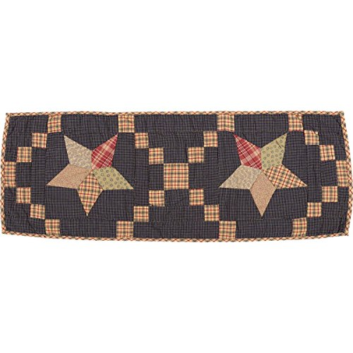 - VHC Brands 12274 Arlington Runner Quilted Patchwork Star, 13