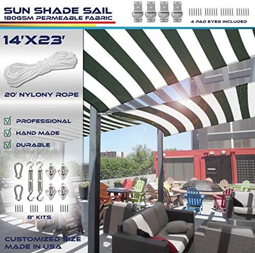Windscreen4less 14' x 23' Rectangle Sun Shade Sail