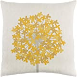 18'' French Fry Yellow and White Woven Decorative Throw Pillow