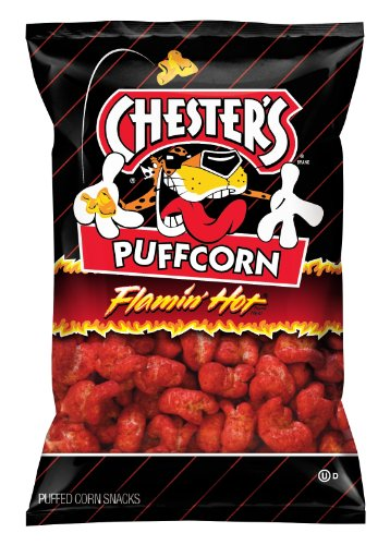 Chester's Cheese Puffcorn, Flaming Hot, 1.5 Ounce (Pack of 24) ()