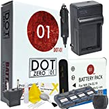 DOT-01 Brand Sony DC-RX0 Battery and Charger for Sony DC-RX0 Action and Sony RX0 Battery and Charger Bundle for Sony BJ1 NP-BJ1