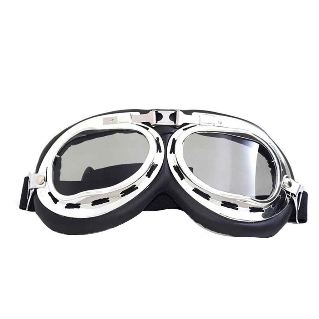 Vintage prueba de viento a prueba de polvo de la motocicleta al aire libre Gafas Moto Bike gafas de protecció n UV Casco cristales decoració n Republe