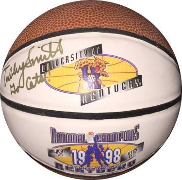 Tubby Smith signed 1998 Kentucky Wildcats National Champs Logo Mini Basketball Go Cats- JSA/BAS Guaranteed To Pass - PSA/DNA Certified