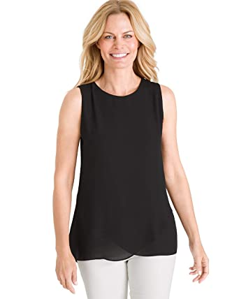 ac4bb66475 Chico s Women s Long Cross-Crepe Tank Top at Amazon Women s Clothing ...