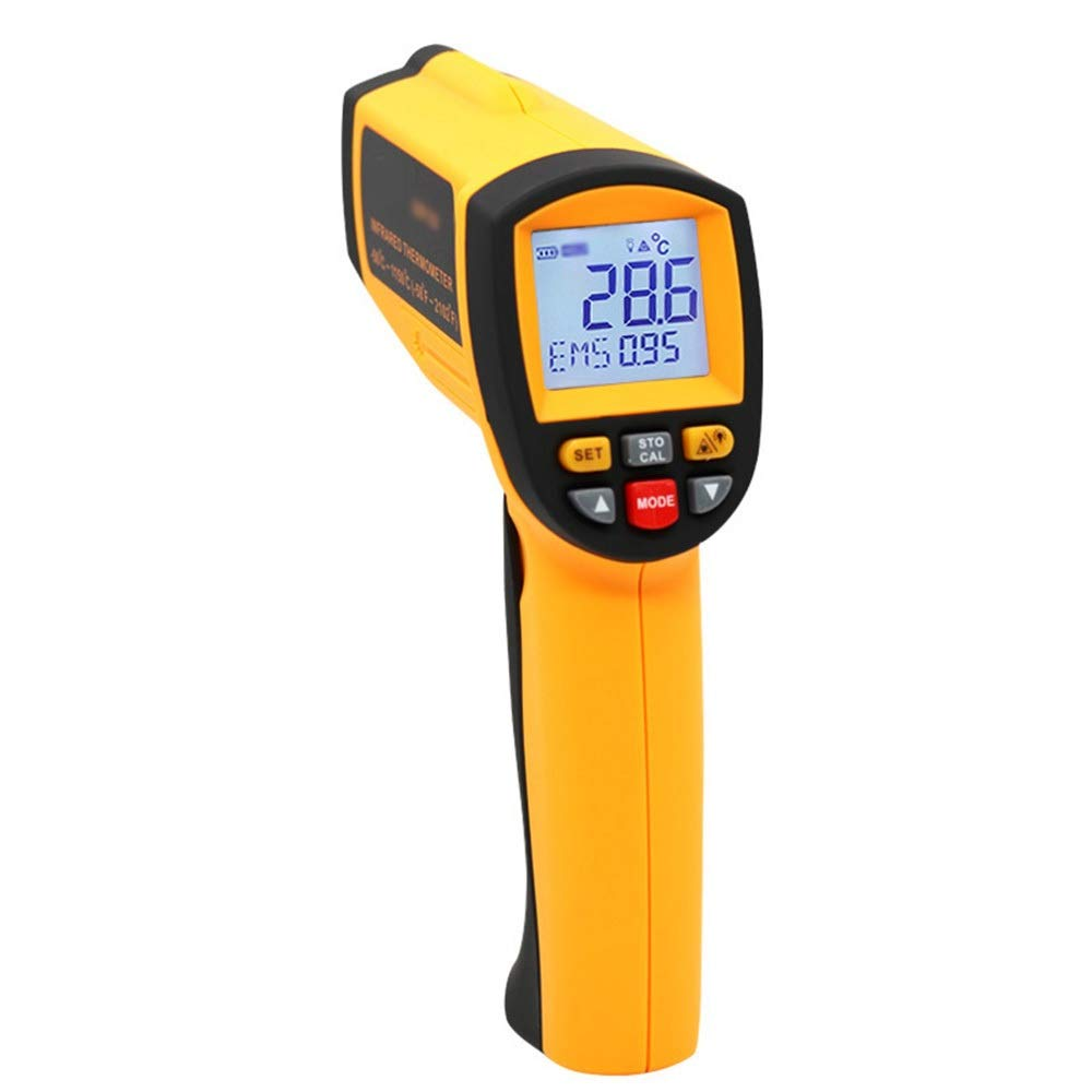 XUNHANG Response Wavelength: 8-14um Infrared Thermometer Non-Contact Thermometer Electronic Thermometer Gun Temperature Measuring Instrument Indoor/Outdoor Thermometer Infrared Grill by XUNHANG