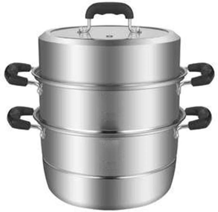 Ygqzg Stainless steel steamer— 3 Piece Premium Heavy Duty Stainless Steel Steamer Pot Set Includes, 2 Quart Steamer Insert and Vented