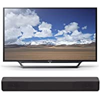 Sony KDL32W600D 32-Inch HD Smart TV w/Soundbar Bundles (S200F Bundle)