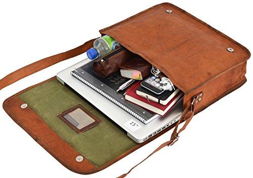 Gusti Leder nature Taylor 15 Tasche für Laptop 15,4 Umhängetasche Ledertasche 37 cm x 28 cm x 10 cm Vintage Braun U3