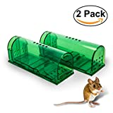 HoneyBull Humane Mouse Trap [2-Pack] No-Kill Smart Mouse Trap | Catch and Release Rodents and Mice | Household Friendly and Safe to Use Around Children and Pets