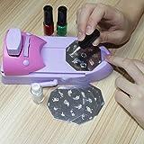 Fashion Ladies Home DIY Nail Art Drawing Polish Stamper Printer Machine Nail Stamping Printing Set