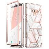 Samsung Galaxy Note 9 Case, [Scratch Resistant] i-Blason [Cosmo] Full-body Bling Glitter Sparkle Clear Bumper Case with Built-in Screen Protector for Galaxy Note 9 (2018 Release) (Marble)