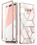 Samsung Galaxy Note 9 Case, [Built-in Screen Protector] i-Blason [Cosmo] Full-Body Glitter Bumper Protective Case for Galaxy Note 9 (2018 Release) (Marble)