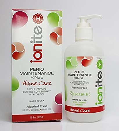 Ionite 0.63% Stannous Fluoride Antimicrobial Perio Rinse Mouthwash -  Spearmint Flavor 10 Fl. Oz