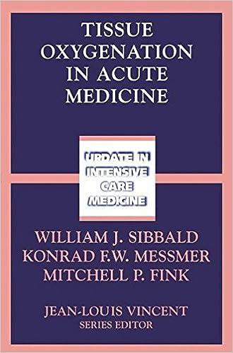 Descargar Libros Torrent Tissue Oxygenation In Acute Medicine Torrent PDF