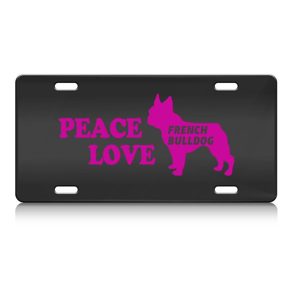 Peace Love Französische Bulldogge Hund Metall Nummernschild BL ...