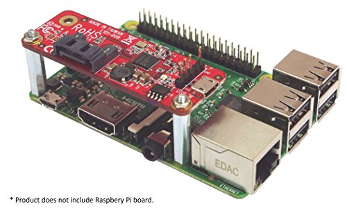 Ableconn PIUSB2SAT USB to SATA Converter Stackable Expansion Board for Raspberry Pi by Ableconn