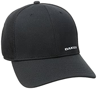 Oakley Men's Silicon Bark Trucker 4.0 Hat, -Black, S/M