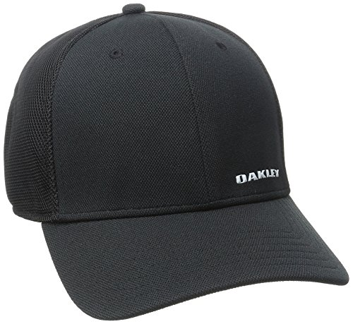 Oakley Men's Silicon Bark Trucker 4.0 Hat, -Black, - Oakley Black Hat