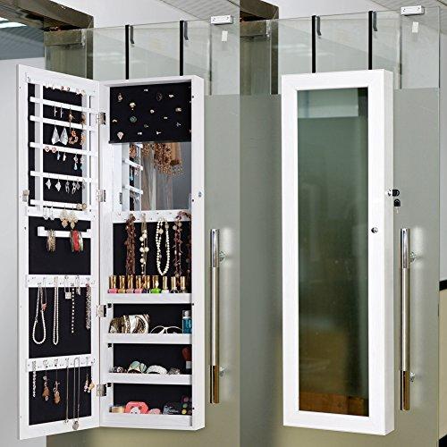 Jewelry armoire hardware organizedlife locking jewelry for Merlot jewelry armoire with brushed nickel hardware