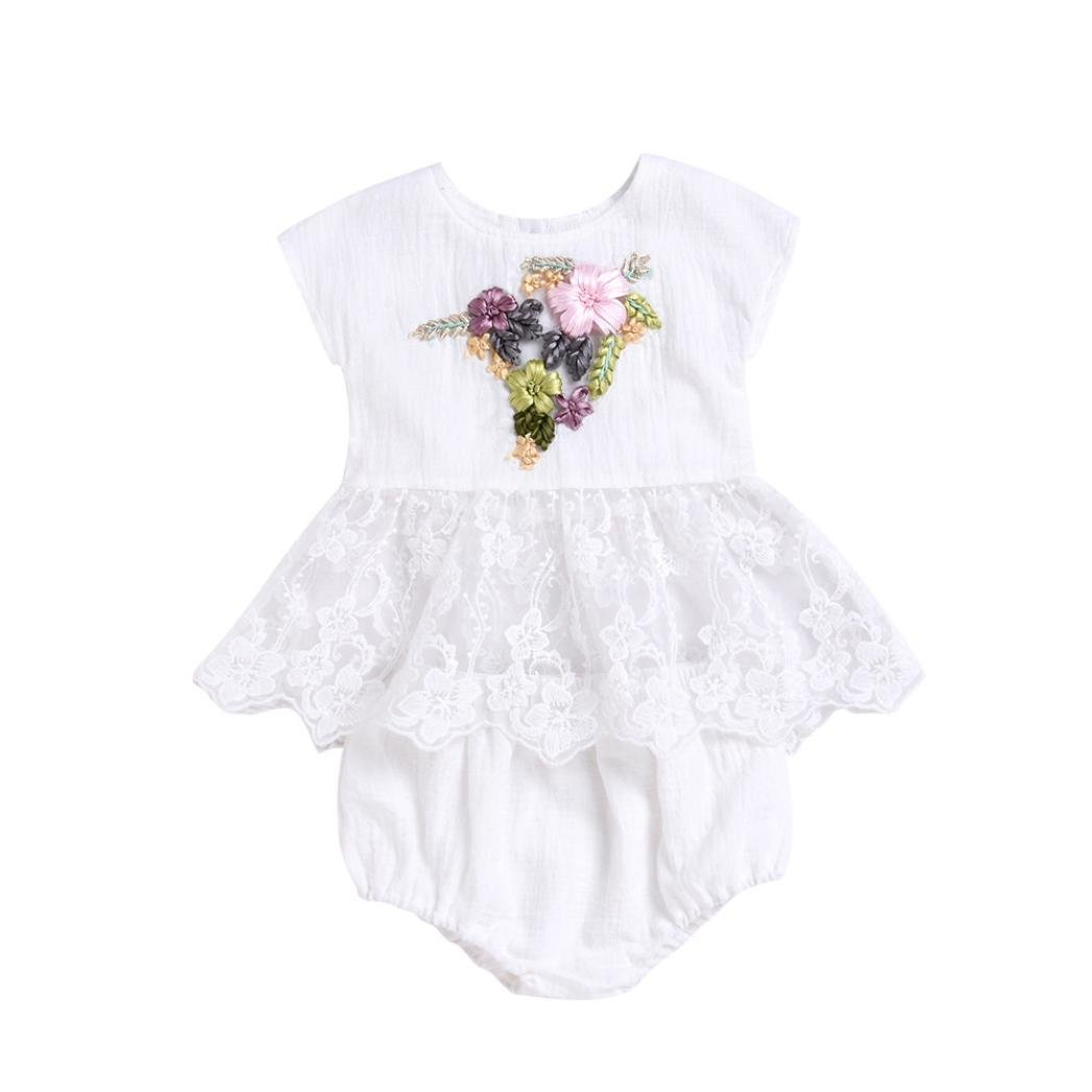 aac1df301b Zerototens Toddler Baby Boys Girls Jumpsuit,0-18 Months Newborn Infant Baby  Girls Romper Embroidery 3D Floral Strap Jumpsuit Outfits Casual Party Baby  ...