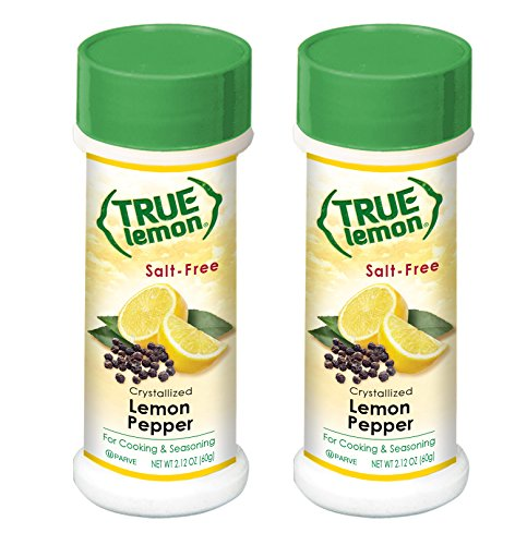 Free Pepper Salt Seasoning - True Lemon Pepper Seasoning (2 pack) Natural Ingredients, No Salt, No Gluten