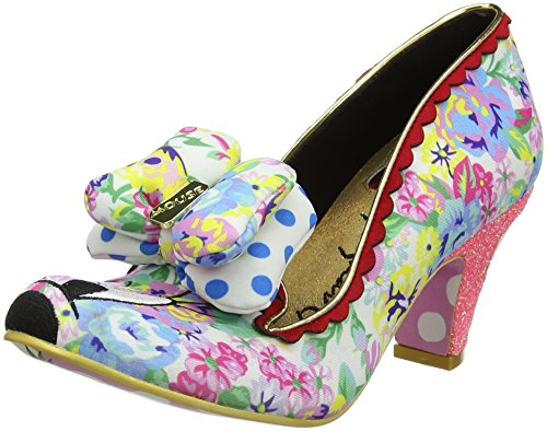 Irregular Choice Floral Minnie - Tacones Mujer White (White Multi)