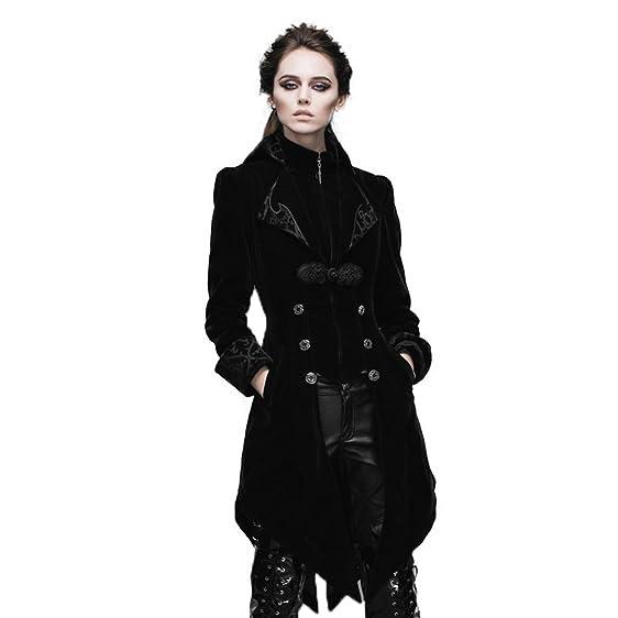 Amazon.com: Devil Fashion Steampunk Swallow Tail Coat Gothic ...