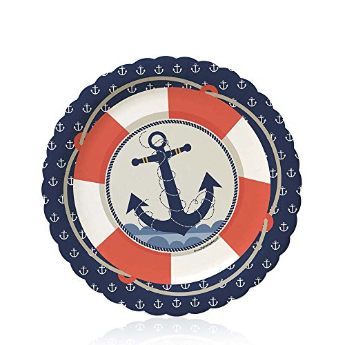Big Dot of Happiness Ahoy - Nautical - Baby Shower or Birthday Dessert Plates (8 -