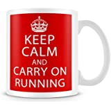 Keep Calm and Carry On Running Mug / Cup