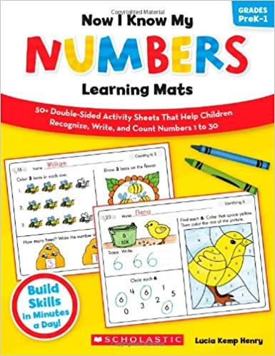 Now I Know My Numbers Learning Mats: 50+ Double-Sided Activity ...