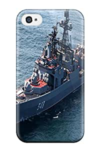 Protection Case For Iphone 4/4s / Case Cover For Iphone(star Russia Navy Ship Warship War Military Ocean)