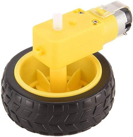 Arduino Smart Car Robot Plastic Tire Wheel with DC 3-6v Gear Motor for Robot Ei^