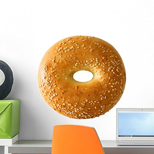Bagel with Sesame Seeds Wall Decal by Wallmonkeys Peel and Stick Graphic (18 in W x 14 in H) - Bagels Seed
