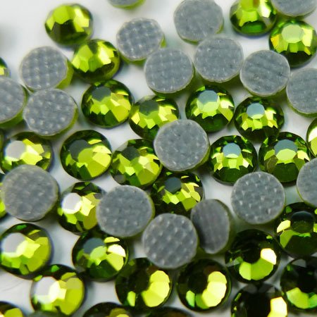 NEW ThreadNanny CZECH Quality 10gross (1440pcs) HotFix Rhinestones Crystals - 5mm/20ss, Lime Green (Olivine) Color