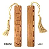 Teacher Quote Engraved Wooden Bookmark with Tassel - Personalized Version Also Available - Search B072N9MW2M.