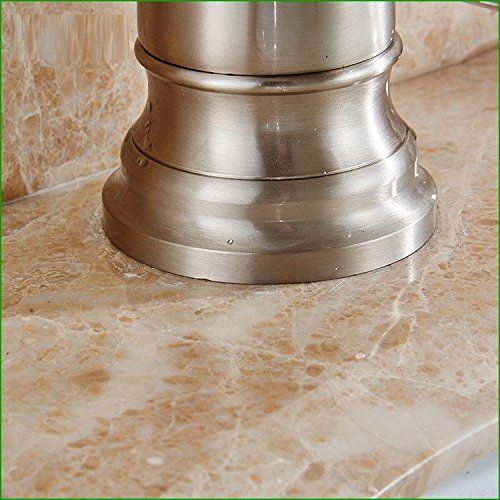 Hlluya Wasserhahn für Waschbecken Küche Alle Alle Alle Kupfer gebürstet Bad Armatur Waschbecken Küche Hand Plattentyp Wasserhähne 713545