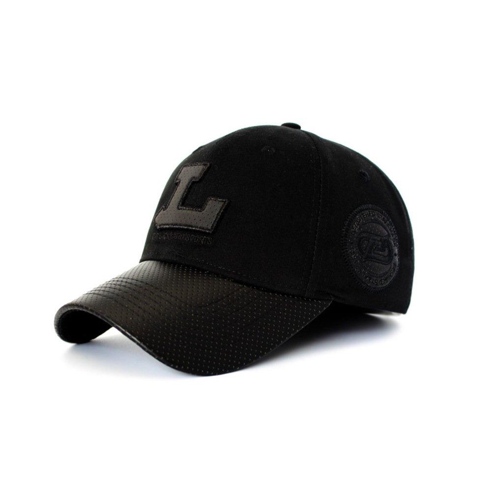 Spring and summer men's fashion baseball cap/Outdoor sports visor cap-black 60cm