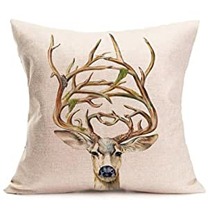 square decorative throw pillow case cushion