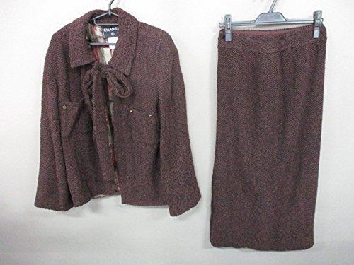 (シャネル) CHANEL スカートスーツ レディース ブラウン×黒 【中古】 B07F11FMV2  -