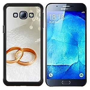 KLONGSHOP // Cubierta de piel con cierre a presión Shell trasero duro de goma Protección Caso - Anillo Pareja - Samsung Galaxy A8 A8000 //