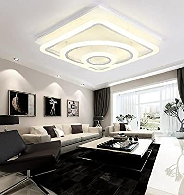 Jingzou Atmosphere modern simple led ceiling art living room bedroom lighting 555518.5CM 48W