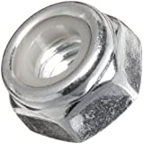 Steel Lock Nut, Plain Finish, Gray (Pack of 100)