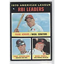 Frank Howard; Tony Conigliaro; Boog Powell COMC REVIEWED Good to VG-EX (Baseball Card) 1971 Topps #63